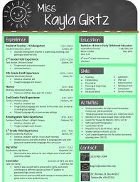Resume Example Free Resume Templates For Teachers To Download