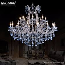 large european style crystal candle lamp 24 light colored glass massive chandelier hotel hallway decorative lighting fixture vintage crystal chandelier