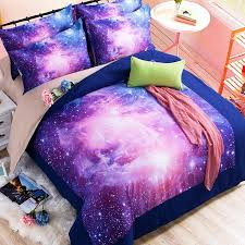colour stars hipster galaxy 3d bedding sets universe outer space duvet cover bed sheet fitted