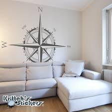 compass rose vinyl wall decal simply swap east and west