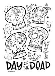 Search through 52006 colorings, dot to dots, tutorials and silhouettes. Day Of The Dead Coloring Worksheets Teaching Resources Tpt