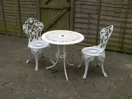 patio bistro set aluminium cast iron table chairs garden patio metal round free local delivery