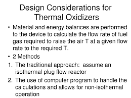 Thermal Oxidizer Design Calculations Ppt Air Pollution Control Technologies Powerpoint