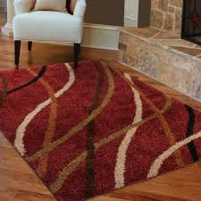 threadbind brookhaven red area rug reviews wayfair for and brown rugs plans 6