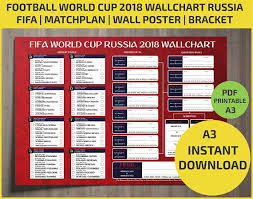 World Cup Planner Chart 2018 Wallchart Fifa 2018 World Cup Russia Pdf Printable