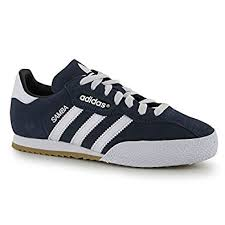 adidas shoes blue and white. adidas kids samba suede junior indoor football trainers sports shoes footwear: amazon.co.uk: \u0026 bags blue and white t