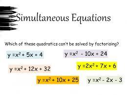 13 how to solve quadratic simultaneous equations