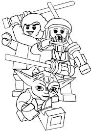 Small Picture Lego Star Wars The Clone Wars Coloring PagesStarPrintable