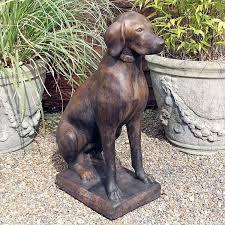 dog garden statue. Unique Dog Pointer Dog Garden Statue Throughout A