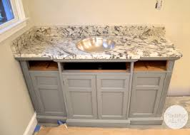 Bathroom Grey Vanities Without Tops With Silver Sink And Charming