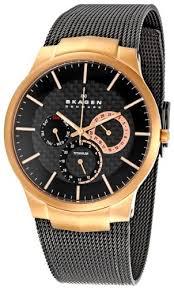 skagen men s 809xltrb titanium collection multifunction black mesh skagen men s 809xltrb titanium collection multifunction black mesh titanium watch