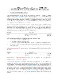Cash Flow Statements Analysis Lecture Notes Lecture 3 Cash Flow Statement Refresher