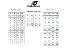 New Balance Size Chart Inches Nb Shoes Size Chart Cw X New Balance Shoe Compared To Nike