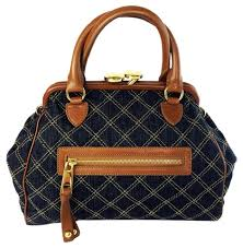 Marc Jacobs Blue Denim/ Leather Mini Stam Quilted Satchel - Tradesy &  Adamdwight.com