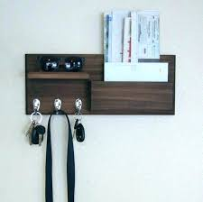 mail and key rack shelf pocket hooks coat by letter holder organizer wall hanger with chain