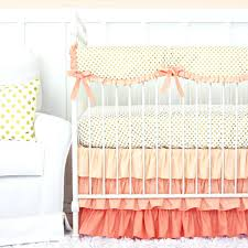 pastel crib bedding sets c and gold dot ruffle crib bedding set pastel nursery bedding sets