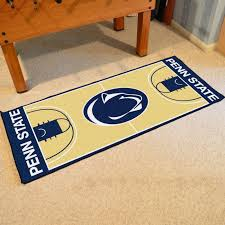 whether it s your entrance mat in to the man cave bedroom or apartment the penn state nittany lions basketball court runner rug will look good anywhere