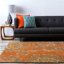 burnt orange rug the sea in rugs