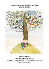 """GIORNATA MONDIALE DELLA LETTURA 23 APRILE 2019 OGGI 16 APRILE: ABBRACCIAMO  UN LIBRO!! """"Un libro è un giardino che puoi custod"""