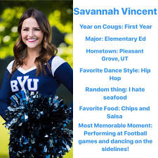 BYU Cougarettes - This weeks Spotlight Monday is Savannah... | Facebook