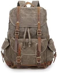 LHQ-Camera Bag Vintage Durable Men/Women Backpack Daypack ...
