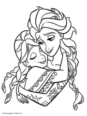 Small Picture Free printable Frozen coloring pages Elsa and Anna Colouring
