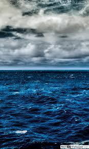 Clouds over Blue Ocean HD wallpaper ...