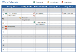 How To Make Schedules For Employees Work Schedule Template For Excel