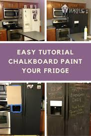 Chalkboard Paint Kitchen Chalkboard Refrigerator Diy Tutorial Pretty Purple Door