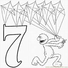 Small Picture Numbers Coloring Pages 7 Lrg Coloring Page Free Numbers Coloring
