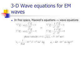 3 d wave equations for em waves