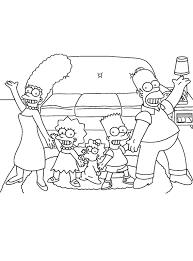 Kleurplaat De Hele Familie Van De Simpsons Kleurplaatjecom