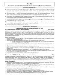 Military Resume Examples And Samples Military Transition Resume
