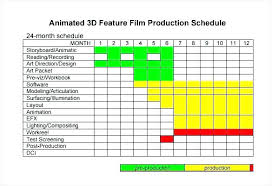 Production Schedule Template Excel Free Download Film Preliminary Shooting Schedule Template Production Pdf