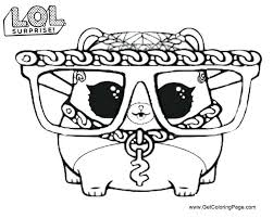 Lol Doll Coloring Pages Lol Pets Series 3 Hammy Free Printable Get