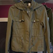 H M Divided Military Army Olive Light Jacket 6