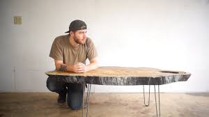 how to build diy log coffee table