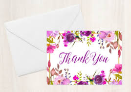 purple note cards purple gold floral folded thank you note cards by pink posy paperie