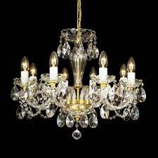 weisberg pendant lamp chandelier gold plated swarovski crystal 40w e14
