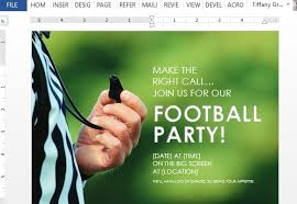 How To Create Football Party Flyer In Word
