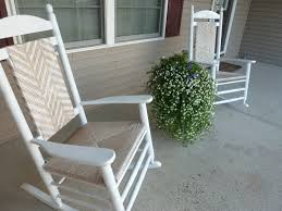 white pine wood rocking chairs which adorned with woven seat and back front porch rocking