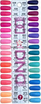 Nail Color Chart 0007 Dnd Duo Gel Duo Set Color Chart 7 Set 36 Colors
