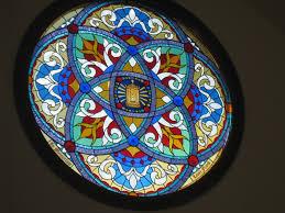 6ft round window merrill wi contemporary design panel contemporary church window