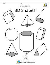 how to draw 3d simple geometric shapes drawing and coloring for kids