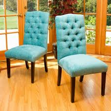 teal fabric dining chairs with on