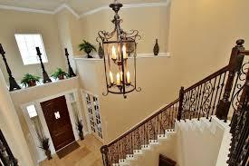 rustic foyer lighting