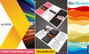 Foldable Brochure Template Free 15 Free Corporate Bifold And Trifold Brochure Templates