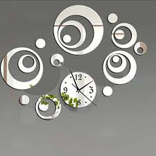 Decorative Wall Clocks For Living Room Diy Decorative Modern Mirror Wall Clock Sticker Acrylic Room