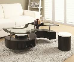 brown glass coffee table