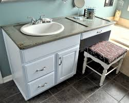old shutter bees bathroom countertop